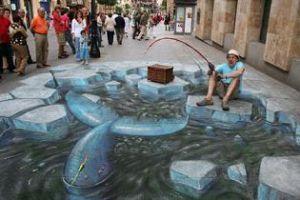 عکس هایی از نقاشی های زیبای سه بعدی