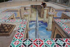 نمونههایی از خلاقیت در هنر خیابانی که به شکل سه بعدی ارائه شدهاند