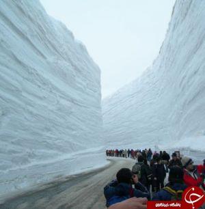 جاده ای در عمق 20 متری برف + عکس