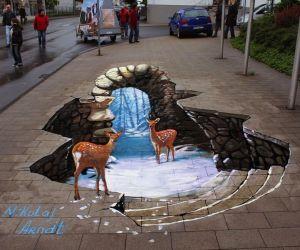 عکسهای سه بعدی در خیابان که بسیار زیبا هستند.