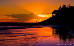 زیباییهای دل انگیزغروب وطلوع خورشید