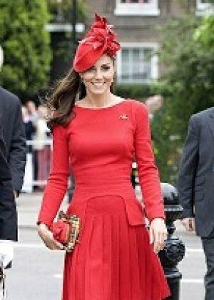 لباس قرمز کیت میدلتون