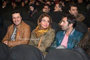 جواد عزتی و همسرش در افتتاحیه مدت معلوم