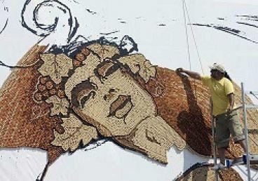 کار هنری با استفاده از چوب پنبه