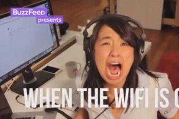 حرکات عجیب و غریب دختر چینی هنگام قطع شدن اینترنت!
