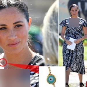 گردنبند مگان مرکل، عروس ملکه پرحاشیه شد+عکس