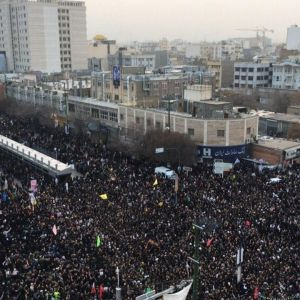 تصویر هوایی از سیل خروشان مردم تهران