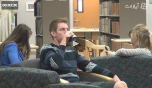 دوربین مخفی سر و صدا در کتابخانه