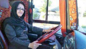 بانوی کارشناس الهیات پشت فرمان اتوبوس