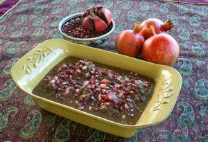 خورش سير و انار مخصوص مازندران