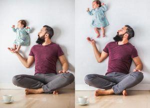 پدر و مادر عکاس برای گرفتن عکس از نوزادشان اینگونه خلاقیت به خرج دادند !
