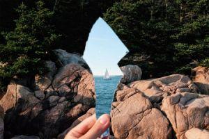 هنرمند ایرانی و ثبت تصاویر جادویی با آیینه