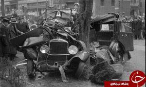 اولین تصادف تاریخ + عکس