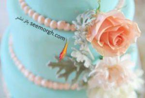 کیک عروسی تان را به رنگ سال 2016 ( آبی روشن ) انتخاب کنید!!