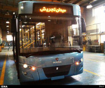 رونمایی از پاکترین اتوبوس خاورمیانه